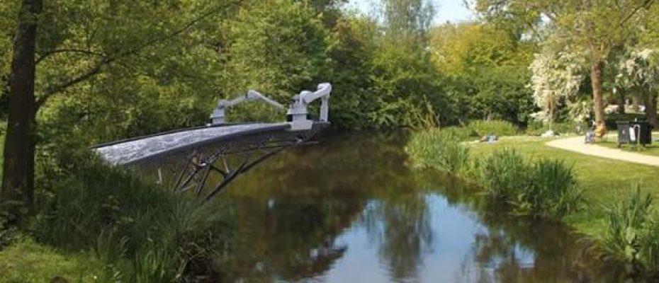 Ponte construída por impressora 3D