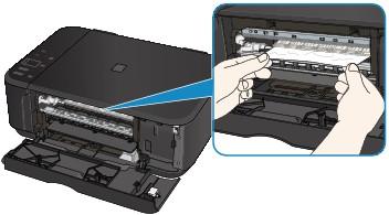 sempre retire o papel atolado na impressora com as duas mãos.