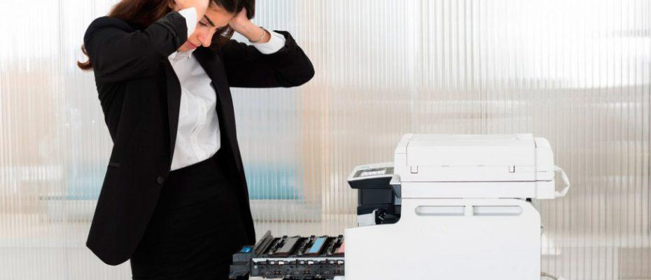 Mensagem impressora offline
