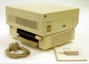 A história da impressão a laser - LaserWriter apple