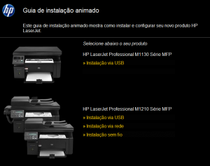 instalar impressora sem cd - guia instalacao hp