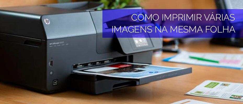 como imprimir varias imagens na mesma folha - capa