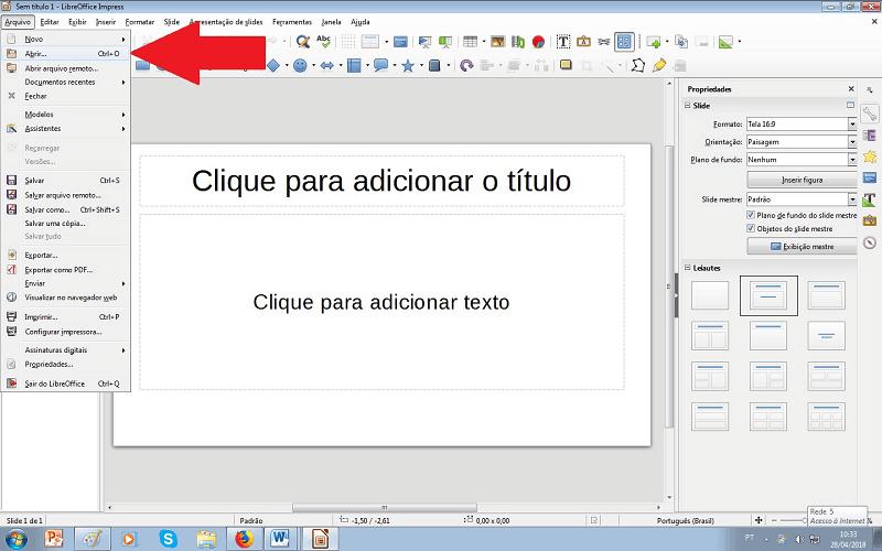 como imprimir vários slides no impress passo 2