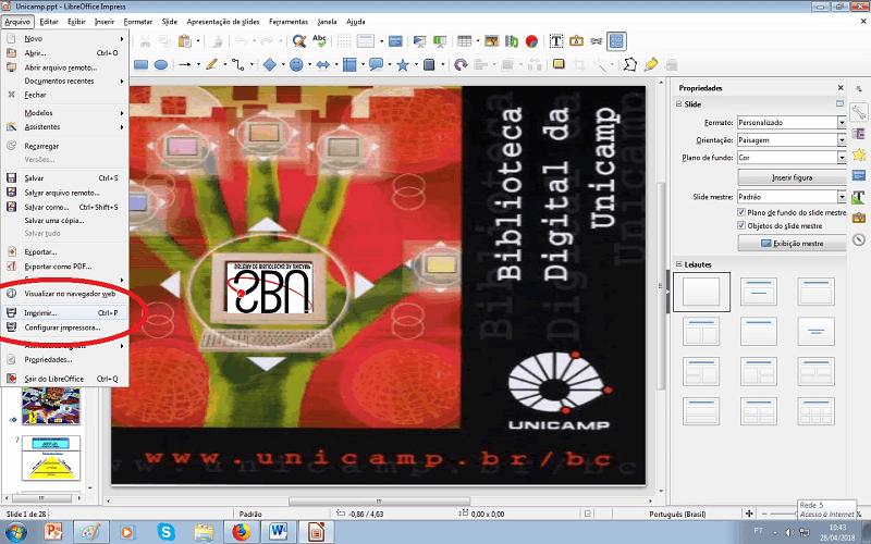 como imprimir vários slides no impress passo 5
