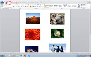imprimir várias folhas - word clicar arquivo
