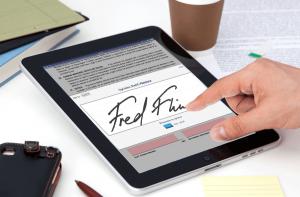 utilize a assinatura digital para reduzir o uso de papel