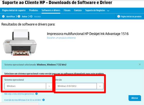 Instalar impressora hp 1516 sistema operacional