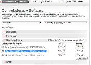 mg2410 instalar a impressora na versao correta do windows