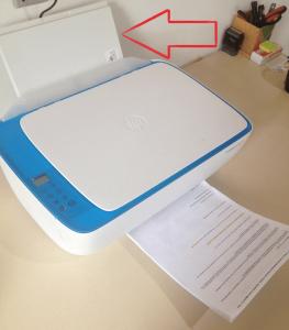 Instalar Impressora HP DeskJet 3630 - alimentação de papel