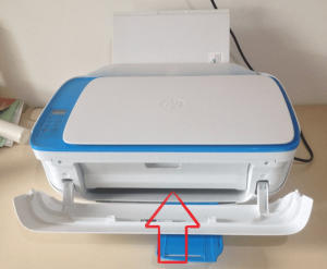 Instalar Impressora HP DeskJet 3630 - porta abertura de cartucho