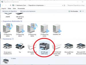 Instalar Impressora HP DeskJet 3630 - defina como padrao