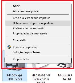 Instalar Impressora HP DeskJet 3630 - clique com botao direito