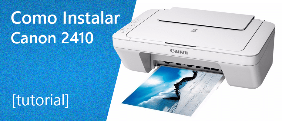69318f80f Como instalar impressora Canon mg2410
