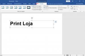Como imprimir espelhado no Word Texto 4