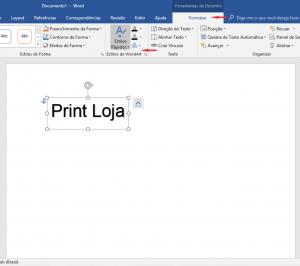 Como imprimir espelhado no Word Texto 7