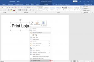 Como imprimir espelhado no Word Texto 8
