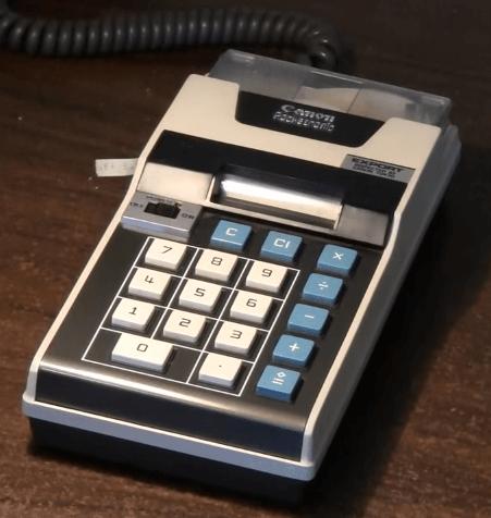 calculadora canon pocketronic