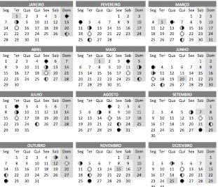 baixar o Calendário lunar 2019 em PDF