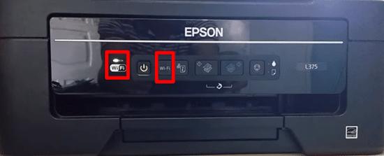 """Aperte o botão """"Wi-Fi"""" da sua impressora."""