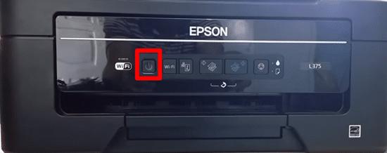 Desligue a impressora - segundo botão.