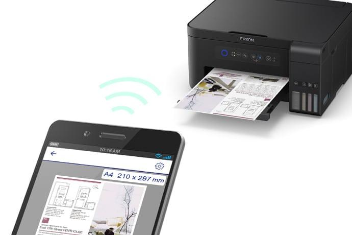 Impressora Epson L4150 permite voce imprimir diretamente pelo celular ou tablet via wifi.
