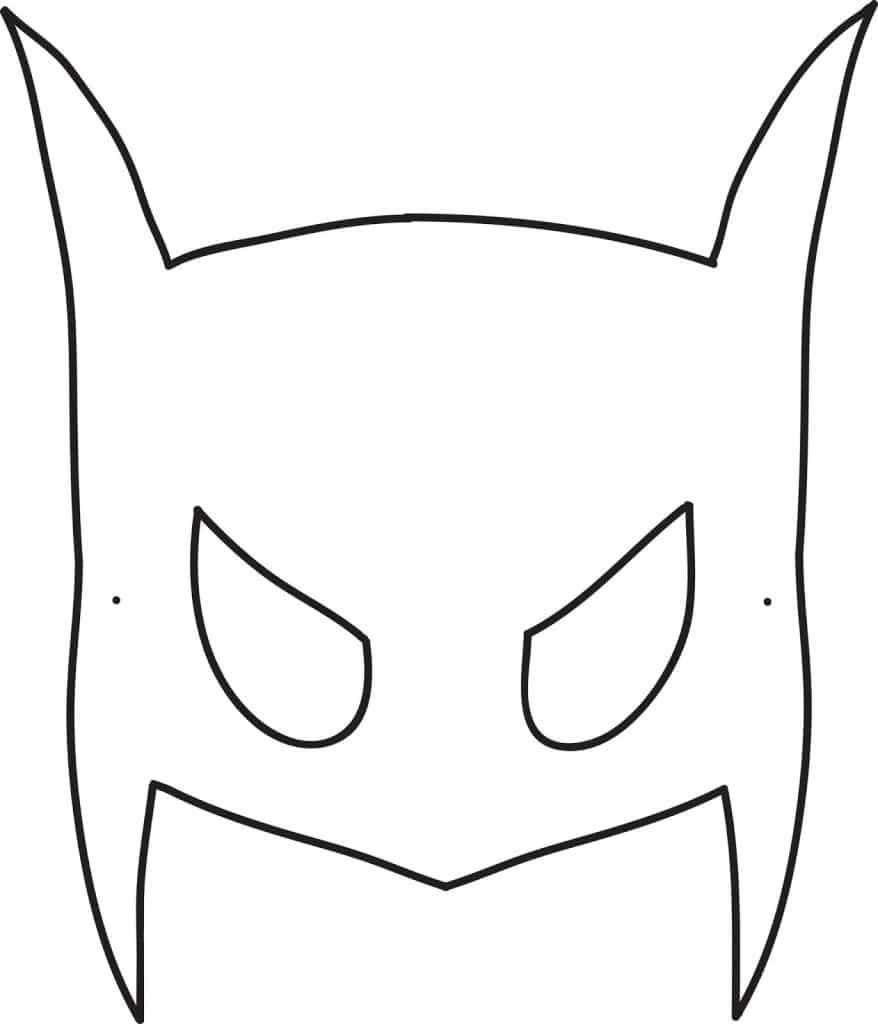 Máscara Batman para imprimir