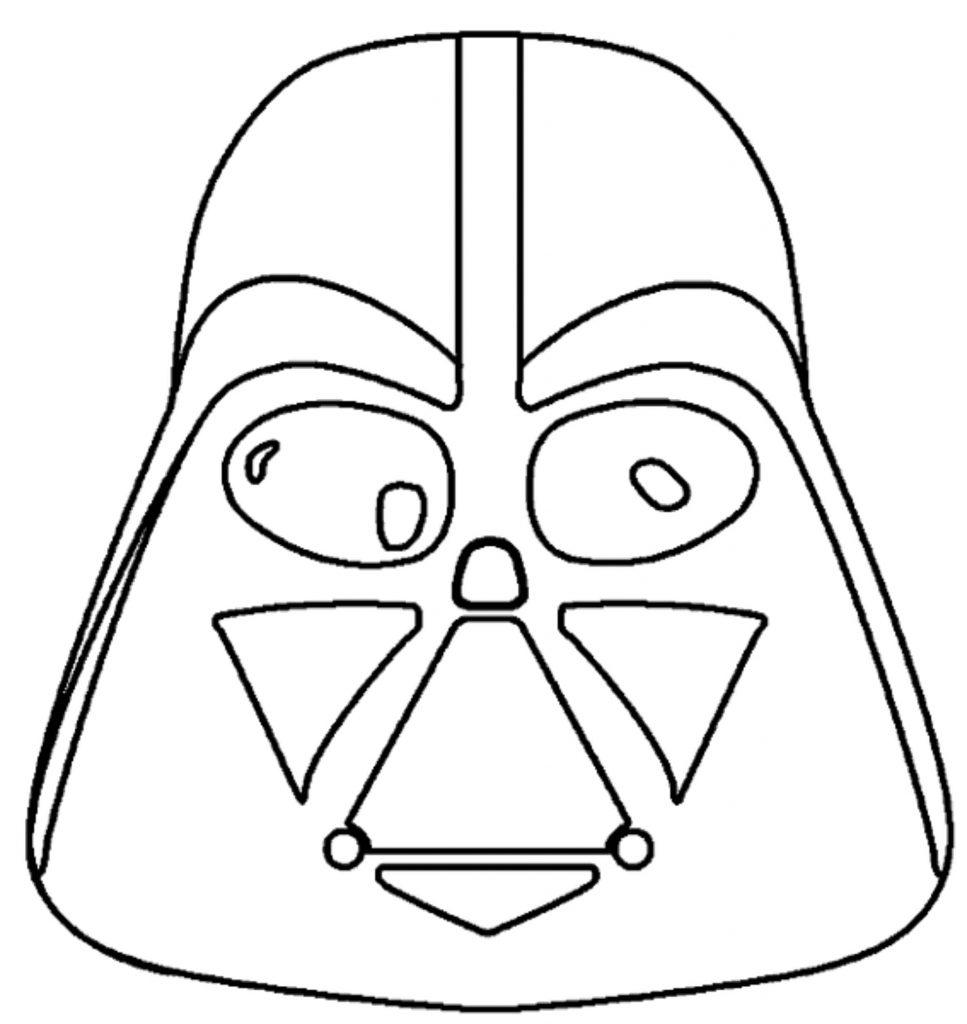 11) Máscara Star Wars para imprimir.