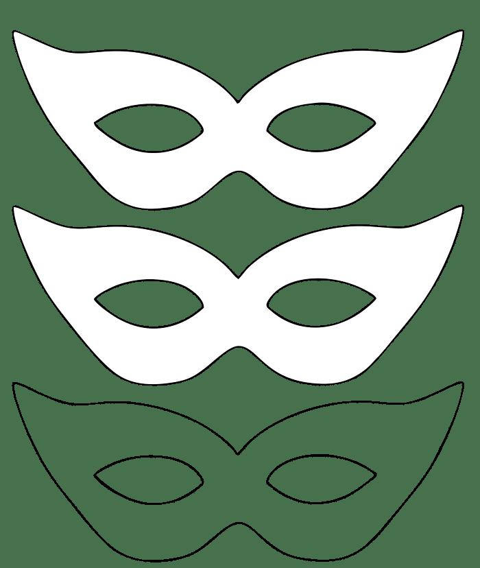 modelo simples de mascara para imprimir.