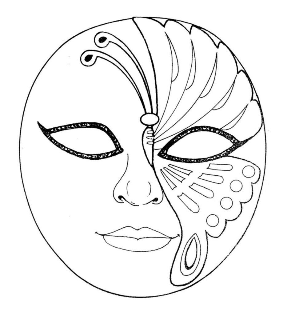 9) Máscara redonda para imprimir.