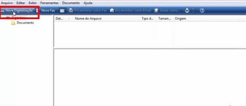 clique em nova digitalização no software da impressora epson l395