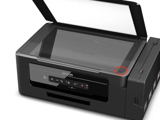 Posição correta do papel para Digitalizar na Epson L395.