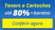 compre toners e cartuchos com até 80% de economia