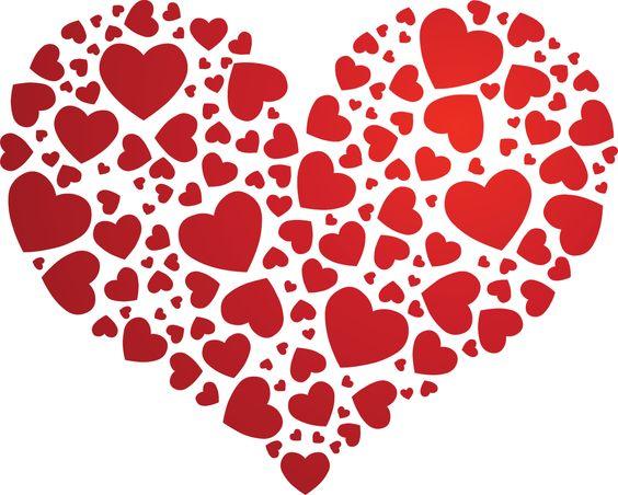 3- Molde romantico formado por diversos corações, ideal para complementar um presente de dia dos namorados!