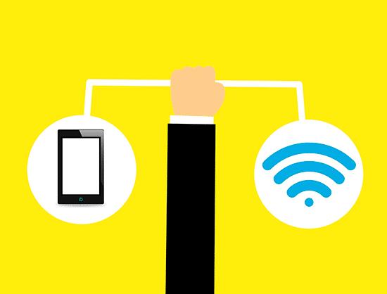 15. Para escritorios despojados, arte que indica disponibilidade de wi-fi.