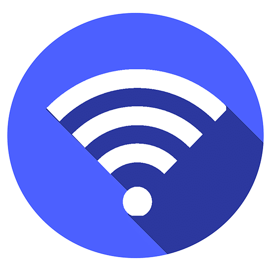 3. Simbolo de wi-fi azul