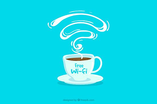 16. Indicado para cafeterias que tem disponbilidade de wi-fi