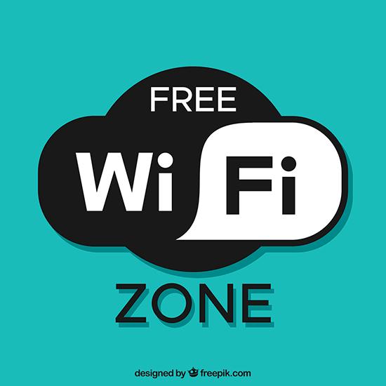 5. Wi-fi livre, podendo ser utilizado em ambientes mais sério quanto descontraído