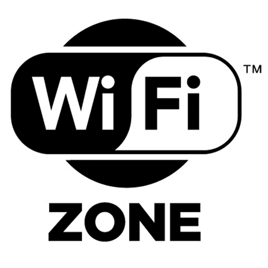 2. WiFi Zone Um aviso que é colocado em áreas frequentadas pelos consumidores