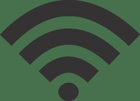 1- Sinal tradicional de wi-fi para sinalizar que há rede disponível