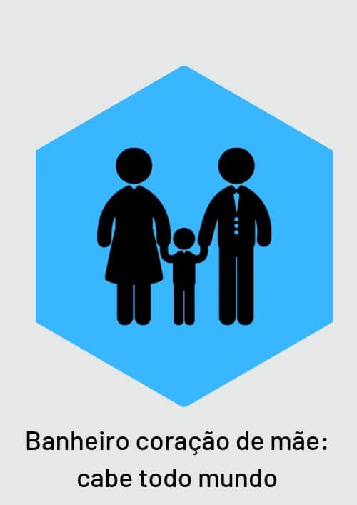 11. Placa para banheiro misto, é igual coração de mãe; cabe todo mundo.