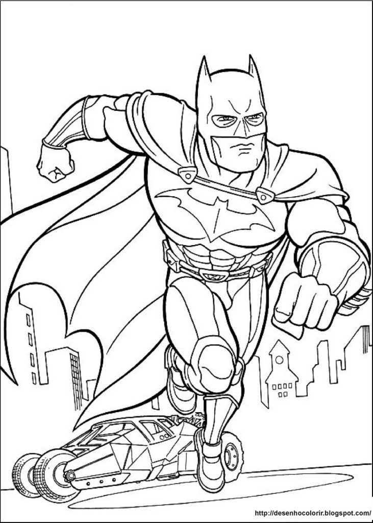 1. Desenho para colorir, Batman.
