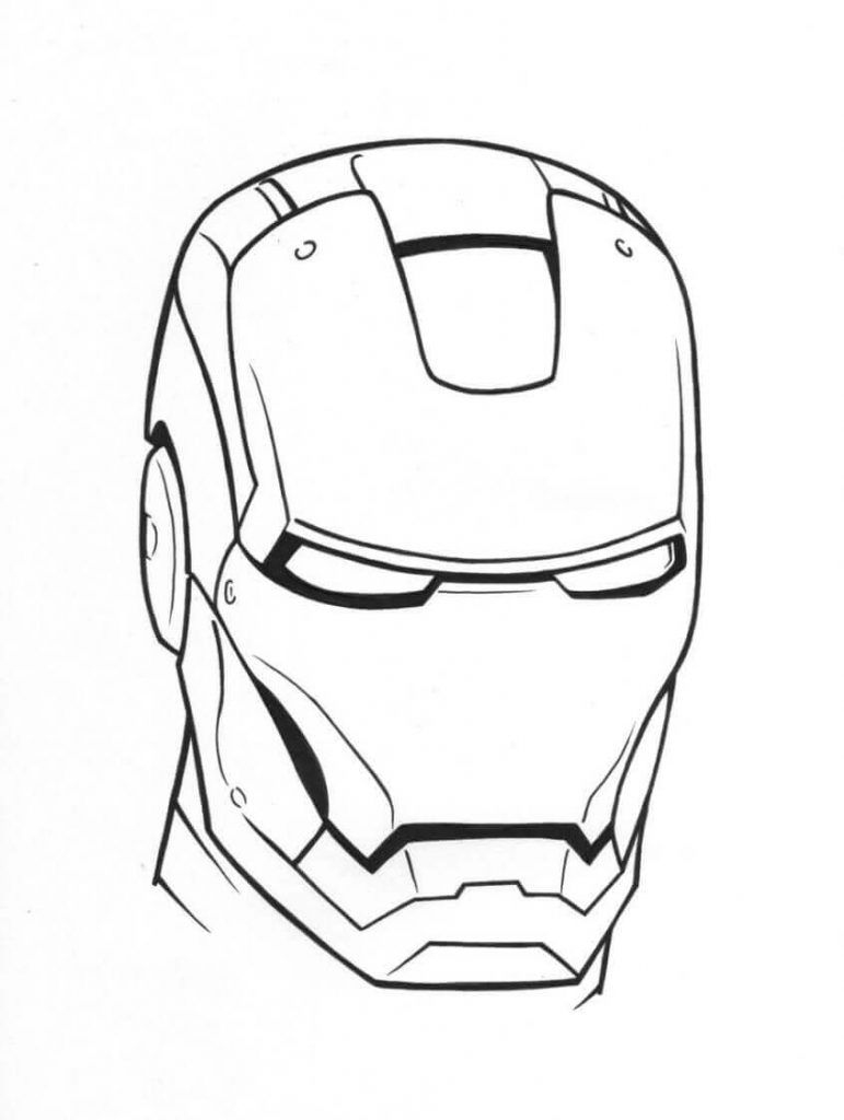 4. Desenho para colorir, Homem de ferro.