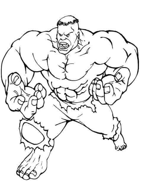 5. Desenho para colorir Hulk.