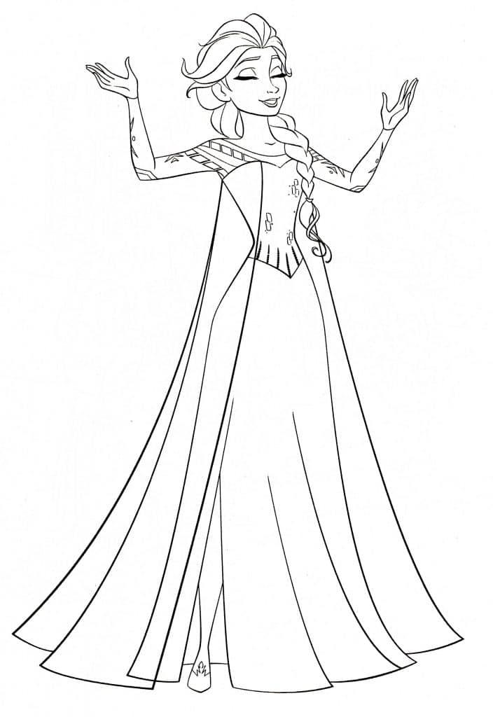 6. Desenho para colorir Elsa.