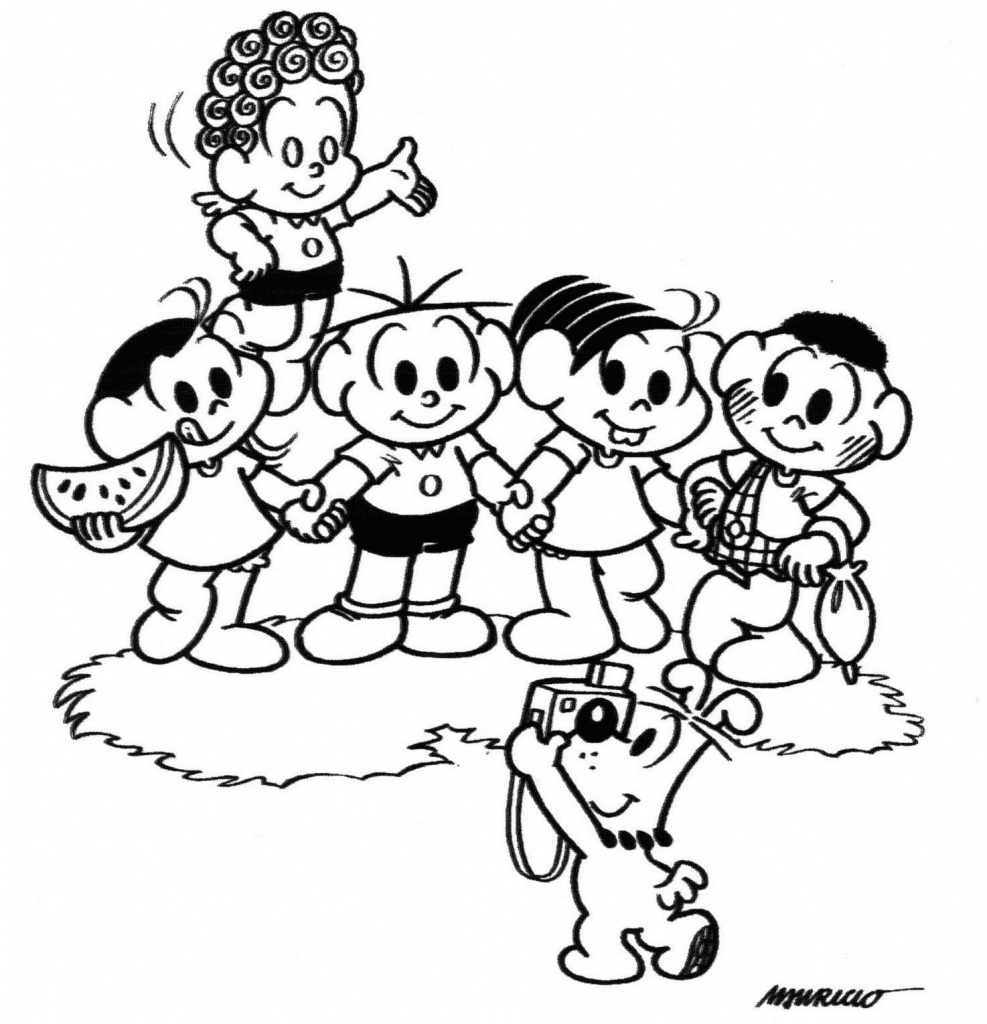 10. Desenho para colorir, Turma da Mônica.