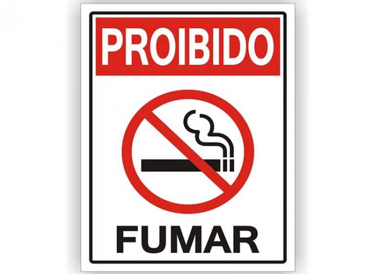 7. Proibido fumar clássico, basta imprimir e colar.