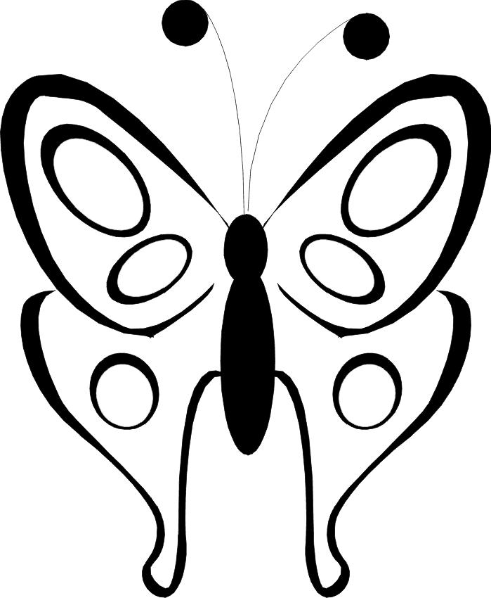 9) Molde de borboleta que pode ser utilizado para enfeitar roupas