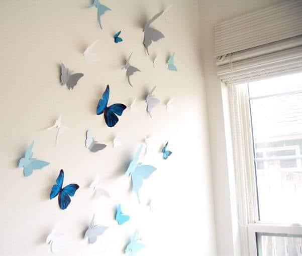 17) Borboletas coladas na parede