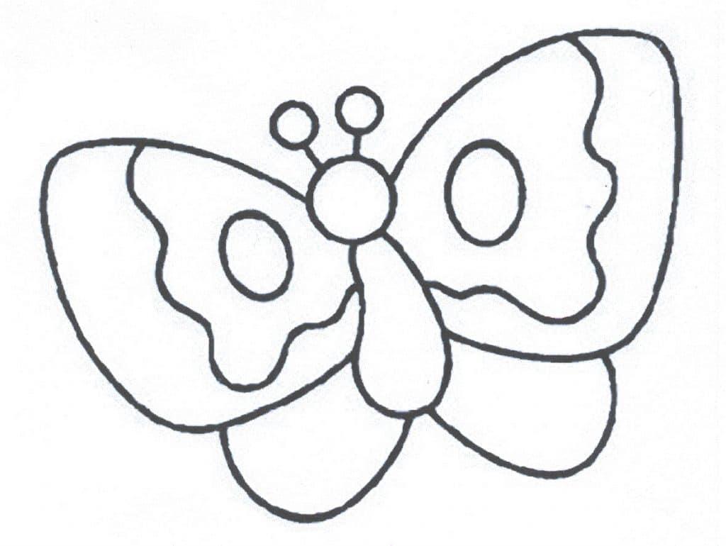 6) modelo simples de borboleta para colorir