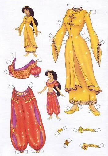 4) Boneca Jasmine para recortar.